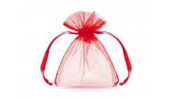 20 Sacchetti ROSSO - tulle in organza per confetti confettate - 7,5x10cm