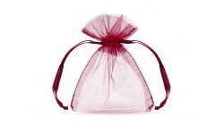 20 Sacchetti ROSSO SCURO - tulle in organza per confetti confettate 7,5x10cm