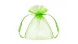 20 Sacchetti VERDE - tulle in organza per confetti confettate 7,5x10cm