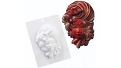 Stampo in plastica per maschera in cioccolato - carnevale veneziana 125x175x40mm