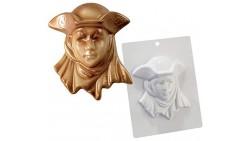 Stampo in plastica per maschera in cioccolato - carnevale veneziana 135x160x45mm