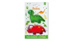 2 Tagliapasta DINOSAURI Brontosauro e Triceratopo - Formine biscotti Dolci Torte