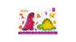 2 Tagliapasta DINOSAURI Stegosauro e Tirannosauro - Formine biscotti Dolci Torte