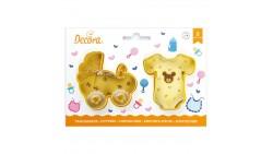 2 Tagliapasta NASCITA BABY Tutina e Carrozino - Formine biscotti Dolci Torte