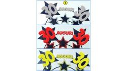 Cerchietto Frontino Auguri 30 Anni stelle Color ARGENTO Glitter BUON COMPLEANNO