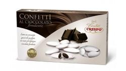 Confetti BIANCO al cioccolato fondente - confetti BIANCHI CRISPO confezione 1kg