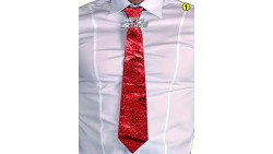 La CRAVATTA cravattone Compleanno - scherzo gadget compleanno - colore casuale