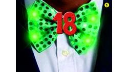 PAPILLON con LED dei 18 ANNI luminoso scherzo gadget compleanno - colore casuale