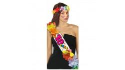 Set Corona e FASCIA HAWAIANA di 18 ANNI - 18 ENNE - gadget per il compleanno