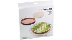 Silikomart - Kit Tarte Grafique - Stampo in silicone e Anello per CROSTATE Ø25cm