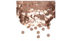 Busta CORIANDOLI in foil ROSA GOLD - 50gr dischetti metallizzati decorazione tavolo