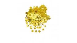 Busta CORIANDOLI Stella Stelline Oro GOLD - 50g metallizzati decorazione tavolo