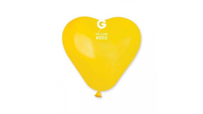 Palloncini a forma di Cuore cuoricini GIALLO palloncino palloni 16cm/6 100 PZ
