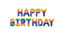 FESTONE Palloncini Rainbow scritta HAPPY BIRTHDAYR buon compleanno 340x35cm
