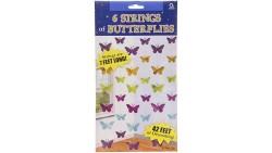 Festone pendenti con Farfalle colorate - 6 fili da 2mt - compleanno