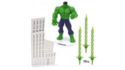 Kit HULK Verde Marvel disney - topper decorazione per TORTA DOLCI