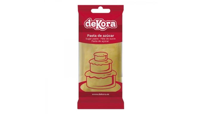 Pasta di zucchero GIALLO 250g - glassa Fondente - per copertura torte e dolci