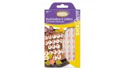 ALFABETO - Decorazione in zucchero per torte e dolci - Lettere e numeri 96pezzi