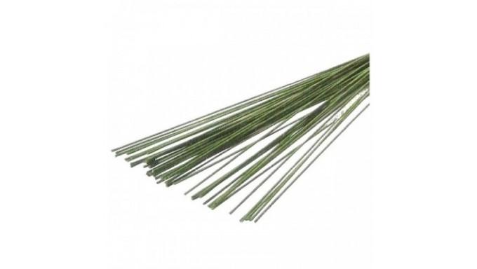 STELI per FIORI fili di ferro ricoperti di carta VERDE - 50 pezzi - 22 gauge
