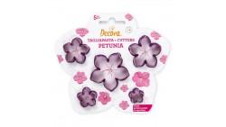 Set 5 Tagliapasta Fiore Petunia - per biscotti e decori torte e dolci ecc.