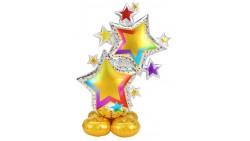 Pallone GIGANTE a Forma di stelle colorate 149cm - PALLONCINO si gonfia aria