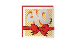 Biglietto auguri Compleanno 40 ANNI - Musicale SONORO e Luminoso - APRI e SOFFIA