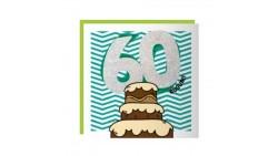 Biglietto auguri Compleanno 60 ANNI - Musicale SONORO e Luminoso - APRI e SOFFIA