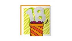 Biglietto auguri Compleanno18 ANNI - Musicale SONORO e Luminoso - APRI e SOFFIA