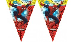 FESTONE bandierine Spiderman Ultimate Uomo Ragno - 2,3mt