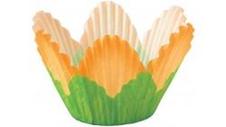 24 pirottini Fiore petali Arancione in carta forno - Cupcake, muffin
