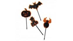 24 Picks HALLOWEEN zucca, pipistrello, ragno - per decorazioni dolci e salati
