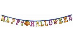FESTONE in carta scritta HAPPY HALLOWEEN ghirlanda addobbo festa - 17x220cm