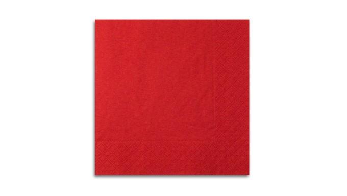 20 TOVAGLIOLI Rosso in carta monouso - Ovatta di pura cellulosa 2veli