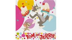 20 Tovaglioli TOM and JERRY decoro Tavolo - in carta pure cellulosa 33x33cm