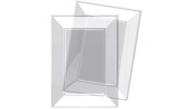 3 Vassoi Trasparente in plastica riutilizzabile - Vassoio Rettangolare 23x32cm