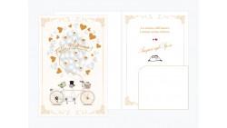 Biglietto di auguri Augurale di Matrimonio con effetto Oro LUCIDO