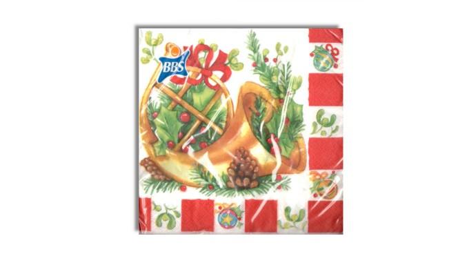 20 Tovaglioli Natalizi in carta CORNUCOPIA di Natale Capodanno - 33x33cm