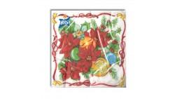 20 Tovaglioli Natalizi in carta Stelle decori di Natale Capodanno - 33x33cm