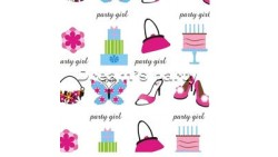 CARTA REGALO 49 PARTY GIRL ROTOLO 2 FOGLI 70X100CM