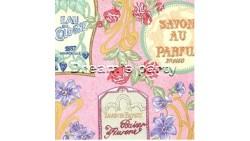 CARTA REGALO 50 SAVON AU PARFUM ROTOLO 2 FOGLI 70X100CM