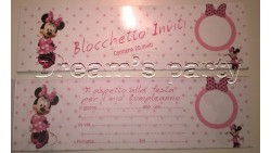 BLOCCHETTO 20 INVITI MINNIE 22X6,5CM