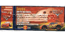 INVITO BLOCCHETTO CARS PZ 20 CM 20X7,5