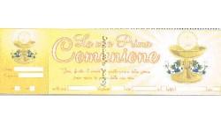INVITO PRIMA COMUNIONE PZ 10 CM 24X7,5