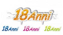 CANDELA SAGOMATA 18 ANNI CM.13X4.5