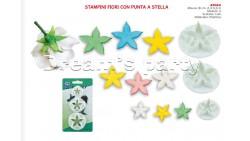 SET 3 STAMPINI FIORI CON PUNTA STELLA DIMENSIONE 2,3-3,3-4CM