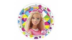 8 PIATTI BARBIE SPARKLE DIAMETRO 18 CM