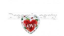 PALLONE BUBBLES LOVE CUORE FIORI 56 CM