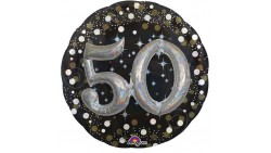Pallone Foil Mylar 50 anni 81cm Effetto 3D