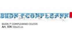 FESTONE 1 ANN0 CELESTE 330X23 CM