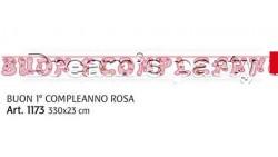 FESTONE 1 ANN0 ROSA 330X23 CM